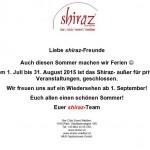 Shiraz Öffnungszeiten Sommer 2015 copy
